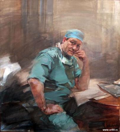 Портрет  кардиохирурга  профессора  Суханова  С. Г. | art59.ru