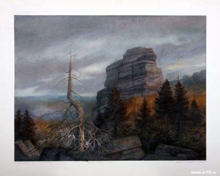 Деревья  и  камень | art59.ru