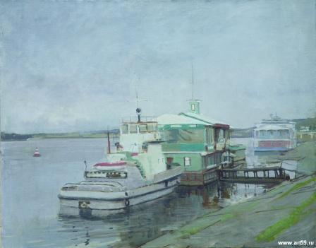 Пейзаж с пристани   art59.ru