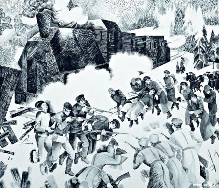 Разоружение казаков у ст. Пермь II рабочими отрядами в 1918 г   art59.ru