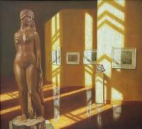 Интерьер со скульптурой С. Д. Эрьзи | art59.ru