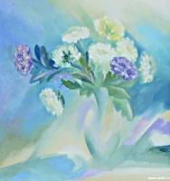 Зимние хризантемы | art59.ru