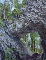 Карстовая арка «Царские врата» (р. Чусовая) | art59.ru