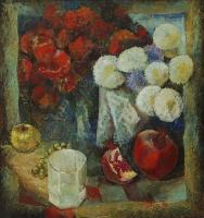 Цветы и гранат | art59.ru