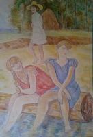 Девчата у реки