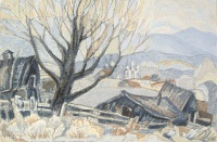 Пейзаж с сараями | art59.ru