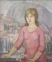 Девушка на фоне Гурзуфа   art59.ru