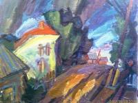 гроза-,масло-картон-,-1982