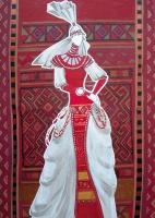 Эскиз к современному чувашскому костюму «Новые амазонки» | art59.ru