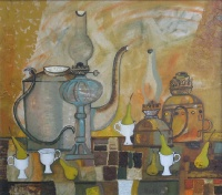 Натюрморт с белыми чашечками | art59.ru