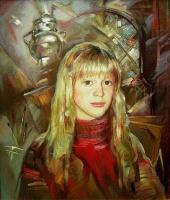 В мастерской. Портрет Кати | art59.ru