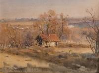Весенний пейзаж. Банька | art59.ru