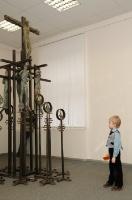 20.Фрагмент скульптурной композиции «Голгофа», бронза, сталь. 2007 г.