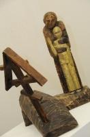 23.Скульптура «Погост», дерево.