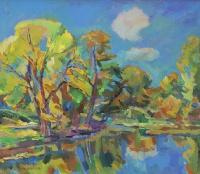 Пруд. Сияющая листва осени | art59.ru