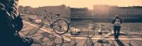 Девушка с велосипедом, диптих | art59.ru