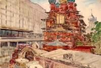 У гостиницы «Россия». Московская старина | art59.ru