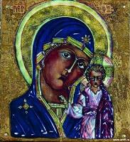Плакетка «Богоматерь Казанская» | art59.ru