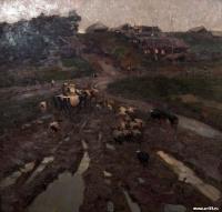 Первый выгон скота в уральской деревне | art59.ru