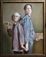 Автопортрет с сыном | art59.ru