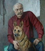 Автопортрет с Гайдой | art59.ru